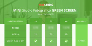 Affitto MINI STUDIO per Video Green screen